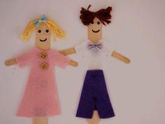 Make an ice cream stick dress-up doll - Kidspot