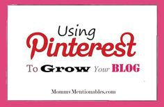 Using Pinterest to Grow your Blog - First Pinning Link-up Party Starts Sunday!!