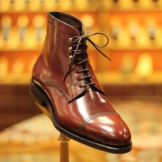 CAs Style | Boots by Carmina Shoemaker in shell cordovan, artisan shoemakers since 1866