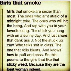 Women that smoke weed~~