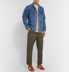 Carhartt Cotton-jersey T-shirt In Neutrals Carhartt, Men's Style, Work Wear, Khaki Pants, Trousers, Beige, Mens Fashion, Denim, Cotton