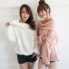 Off-Shoulder Waffle Knit Top from #YesStyle <3 2fb YesStyle.com