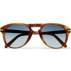 Best tortoiseshell sunglasses....  Persol Steve McQueen Folding Sunglasses