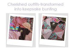 Keepsake Bunting.                                  Gloucestershire Resource Centre http://www.grcltd.org/scrapstore/