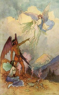 Four Fairies by Warwick Goble, ~via TI Group, FB