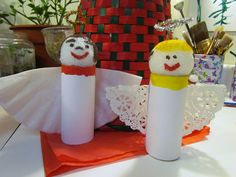 How to make an Angel Ornament toilet paper tube coffee filter doily wings Craft #10