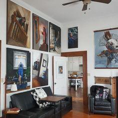 My studio/gallery and habitat Art Boards, Vintage Art, Habitats, Daisy, Gallery Wall, Fresh, Studio, Artist, Painting