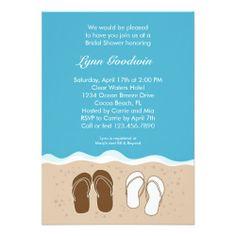 faaacf1cdd48b Flip Flops Bridal Shower Invitation Couples Shower Invitations