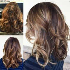 """Tortoise Shell Balayage... by @alexandriassalonandspa #behindthechair #transformationtuesday"""