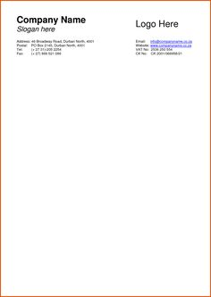 [ Company Letterhead Sample Ledger Paper Word Business Templates Amp Excel ] - Best Free Home Design Idea & Inspiration