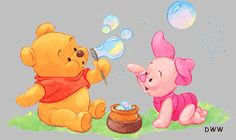 Baby Pooh with baby Piglet