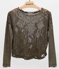 Miss Me Lace Front Sweatshirt