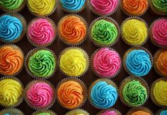 Neon Cupcakes for an 80's Themed Birthday by ConsumedbyCake, via Flickr