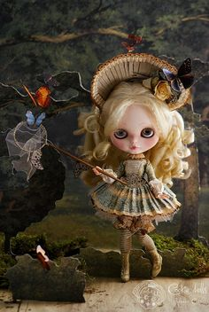 "In the butterflies garden by Rebeca Cano ""Cookie dolls"", via Flickr"