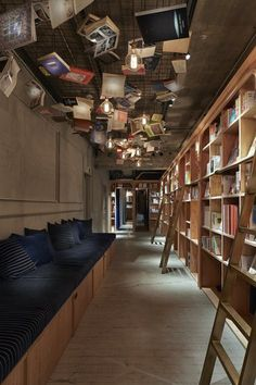 """BOOK AND BED TOKYO Books induce people to sleep.""""I intended to read a book but I fell asleep before I knew it.""""Everyone should have had such an experience. This is a project to make a dormitory accommodation in a floor of a small building in front..."""