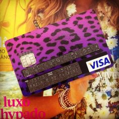 Animal Print Visa Card!<3