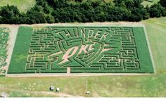 Mikles Family Farm in Shawnee, Oklahoma offers old-fashioned hayrides and exciting corn maze in the fall.