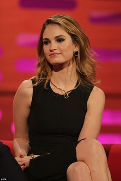 Lily James admits she's not sure if Prince William is truly Downton Abbey fan   Daily Mail Online