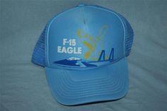 Vintage F-15 EAGLE Fighter Jet Mesh Trucker Hat   Cap Snapback McDonnell  Douglas a2c78a3808de