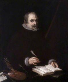 Vincenzo Carducci (Vicente Carducho) · Autorretrato · 1633. Mientras que en Italia y en los paises bajis los retratos de pintores y escultores pertenecieron a un genero bastante extendido, en España fueron poco frecuentes debido a la humilde condicion social de los artistas.