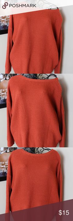 """Oversized """"Rust"""" Sweater This is one of my favorite items! It is an oversized sweater from Fashion Nova, with buttons down the back. It is the perfect """"cozy"""" sweater and is in good condition with no rips, stains or tears! It is a women's large! Fashion Nova Sweaters"""
