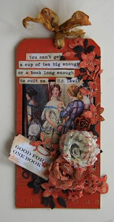 "** Altered Tag ""Good For One Book Red"" @janhobbins"