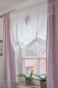 rideaux romantique en lin blanc pinteres. Black Bedroom Furniture Sets. Home Design Ideas