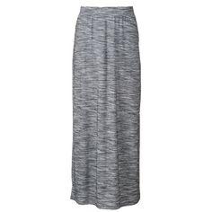 Women's Apt. 9® Maxi Skirt ($20) ❤ liked on Polyvore featuring skirts, gray heather, gray skirt, floor length skirt, jersey skirt, long maxi skirts and long gray skirt