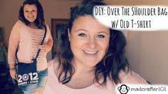 A super easy DIY for a fun way to up-cycle an old tshirt!