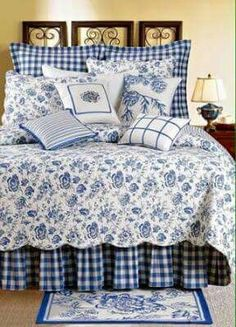 French Country Bedroom Sets - Ideas on Foter Waverly Bedding, Toile Bedding, Bedding Sets, Bedroom Comforters, White Bedroom, Bedroom Sets, Bedroom Decor, Blue Bedrooms, Diy Pillow Covers