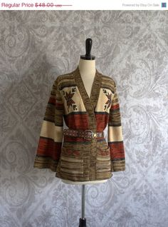 A swell 1970s Wrap Sweater with Bell Sleeves  $32.00