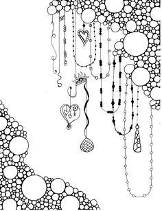 Bubbles and Tangles Zentangle Drawings, Mandala Drawing, Doodles Zentangles, Doodle Drawings, Doodle Patterns, Zentangle Patterns, Doodle Art Journals, Tangle Art, Art Drawings For Kids