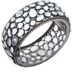 Arthur Marder Fine Jewelry Women's Diamond, Blue Topaz & Sterling... ($1,210) ❤ liked on Polyvore featuring jewelry, bracelets, silver, silver diamond jewelry, champagne diamond jewelry, silver jewelry, sterling silver bangles and diamond jewelry #SterlingSilverBangles