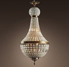 In the early 17th century, chandeliers such as this cast light over French nobility and later sparkled throughout Morocco. We've recreated the North African version, complete with its hundreds of hand-polished crystals, and wired it for lighting that's both elegant and electric. Restoration Hardware