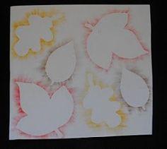 vormen van bladeren, wasco/vetkrijt