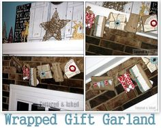 Wrapped Gift Package Garland featuring Kelsey from Tattered & Inked