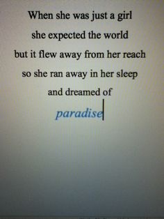 and dreamed of paradise #coldplay