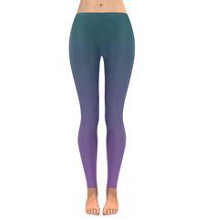 d8515ba040858f gradient leggings purple low rise teal unique printed Ombre leggings size xs  s m l xl 2xl 3xl