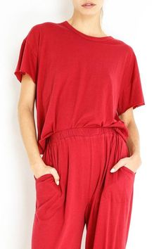 THE CUT EDGE TEE Boudoir, Jumpsuit, Rompers, Tees, Collection, Dresses, Fashion, Overalls, Lowboy