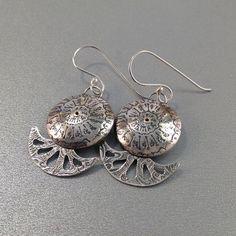 Beachcomber Silver Nautilus Earrings by LindaMackSilver on Etsy