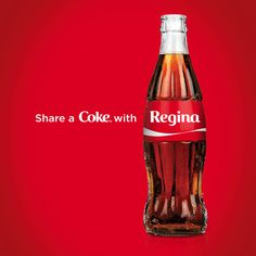 Share A Coke – Customize and Personalize Coke Bottle With Names.