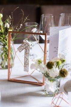 Table, number, glitter, tisch, nummer, glitzer, industrial copper wedding…