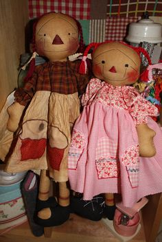Mudcakes and Cupcakes Raggedy Ann doll Sewing by anniescupboards, $4.00