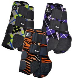 Classic Legacy System Front Splint Horse Boots in Prints