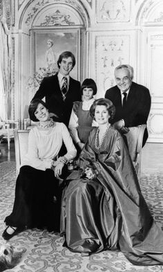 Prince Rainier III of Monaco, Princess Grace and their children Prince Albert, Princess Caroline (L) and Princess Stephanie (C) posed for a family picture in Monte Carlo in 1976, twenty years after their wedding.