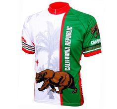 World Jerseys Men's California Republic Cycling Jersey, California Republic, Large - http://ridingjerseys.com/world-jerseys-mens-california-republic-cycling-jersey-california-republic-large/