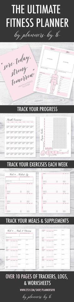 cool This is such a cute and easy way to keep track of your fitness! This printable f...
