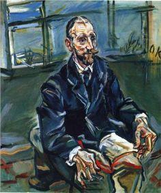 "Oskar Kokoschka, ""Portrait of Franz Hauer"" RISD Museum Gustav Klimt, Franz Marc, Expressionist Artists, Abstract Expressionism, Henri Matisse, Wassily Kandinsky, Van Gogh, Ludwig Meidner, Maurice De Vlaminck"