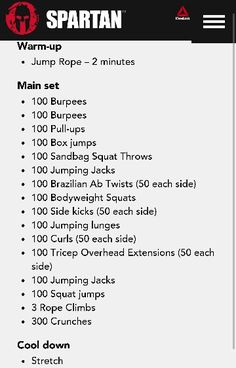 Spartan 1500 Workout