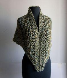 Hand Knit Shoulder Shawl Scarf Cowl Wrap Stylish Comfort by PeacefulPath